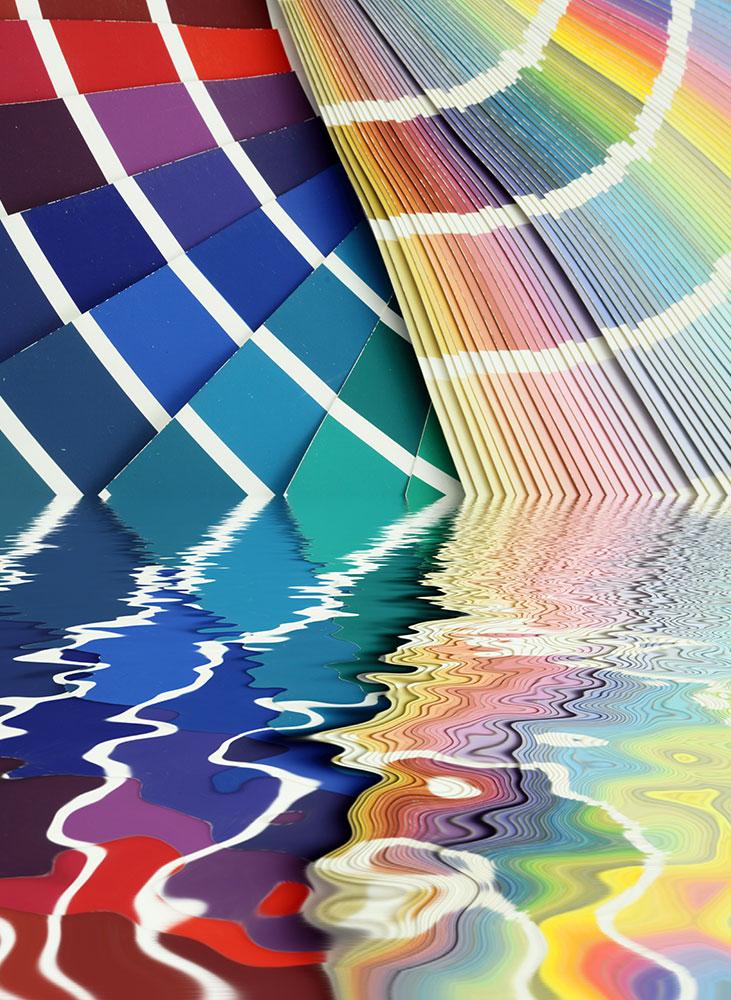 Farbfächer verschwommen